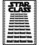 クラス全員の名前がかっこよく映画のエンディングロール風に