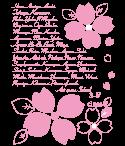 花のイラストを組のものにかえれば、かわいいクラスデザインになります。