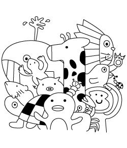 動物がたくさん描かれた可愛いデザイン