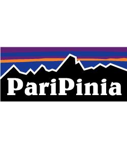PariPiniaの文字が人気なパロディデザイン。文字部分は変更が可能です。