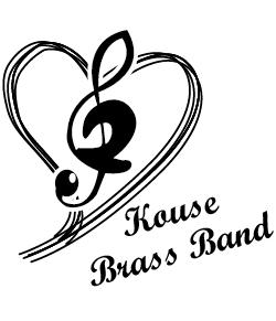 手書き風のハートが可愛い吹奏楽部のデザイン
