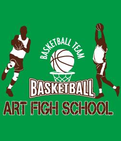 おしゃれなバスケットボール部のデザイン
