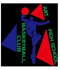 おしゃれなバスケ部デザイン。文字は自由に変更できます。