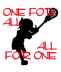 「one for all,all for one」の言葉をプリントしたデザイン