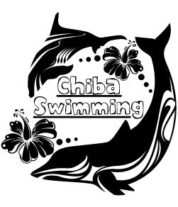 イルカモチーフのかわいい水泳デザイン