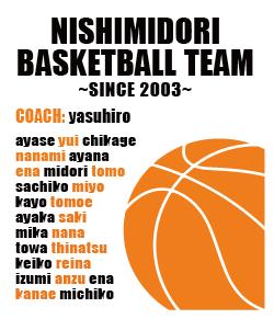 バスケ部におすすめな全員の名前が入るデザイン