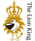 The Lion King風のおもしろデザインです