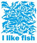 お魚いっぱい、おもしろデザインです