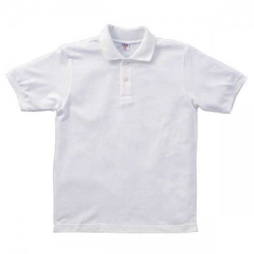 ヘビーウエイトコットンポロシャツ001.ホワイト