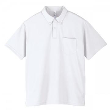 ドライボタンダウンポロシャツ001.ホワイト