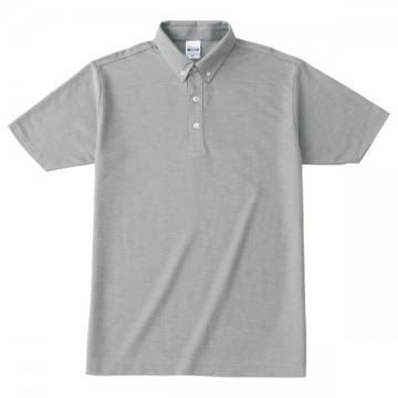 ボタンダウンポロシャツ002.グレー