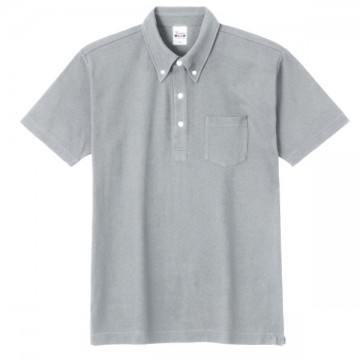 スタンダードB/Dポロシャツ(ポケット付き)002.グレー