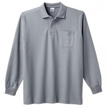 T/C長袖ポロシャツ002.グレー