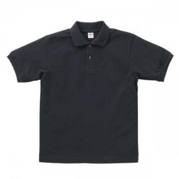ヘビーウエイトコットンポロシャツ002.ブラック