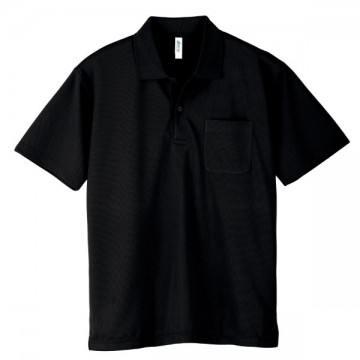 ドライポロシャツ(ポケット付)005.ブラック
