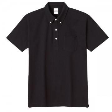 スタンダードB/Dポロシャツ(ポケット付き)005.ブラック