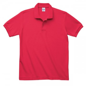 T/Cポロシャツ(ポケット無)010.レッド