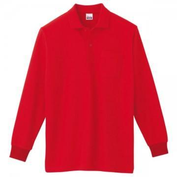 T/C長袖ポロシャツ010.レッド
