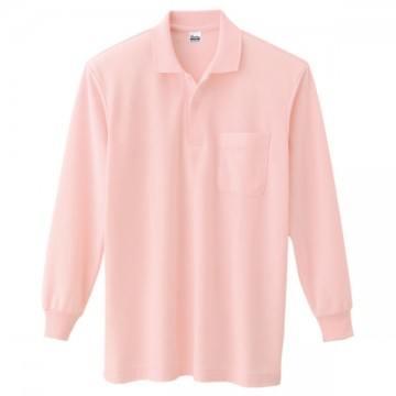 T/C長袖ポロシャツ011.ピンク