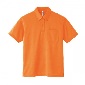 ドライボタンダウンポロシャツ015.オレンジ