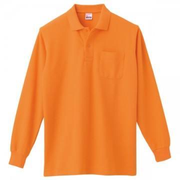 T/C長袖ポロシャツ015.オレンジ