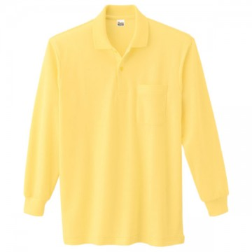 T/C長袖ポロシャツ020.イエロー