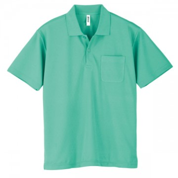 ドライポロシャツ(ポケット付)026.ミントグリーン