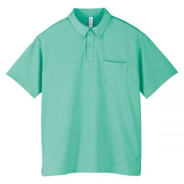 ドライボタンダウンポロシャツ026.ミントグリーン