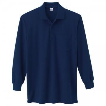 T/C長袖ポロシャツ031.ネイビー