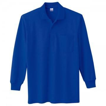 T/C長袖ポロシャツ032.ロイヤルブルー