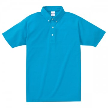 ボタンダウンポロシャツ034.ターコイズ