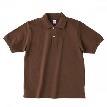 【SALE】ヘビーウエイトコットンポロシャツ052.ダークブラウン