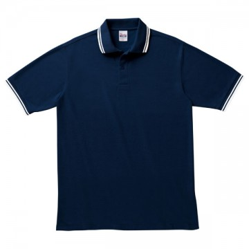 ベーシックラインポロシャツ060.ネイビー×ホワイト
