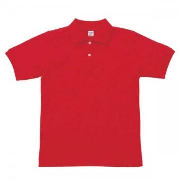 【SALE】ヘビーウエイトコットンポロシャツ069.レッド