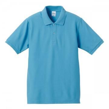 ハイブリッドポロシャツ083.アクアブルー