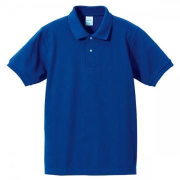 ハイブリッドポロシャツ085.ロイヤルブルー