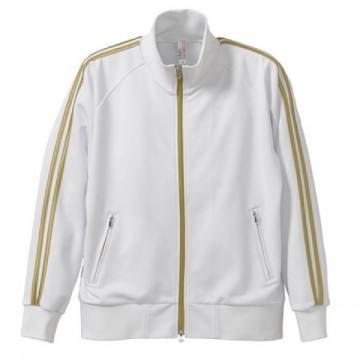 ジャージジャケット1022.ホワイト×ゴールド