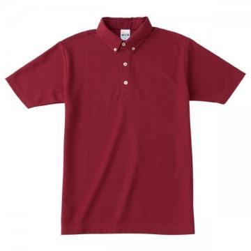 ボタンダウンポロシャツ112.バーガンディ