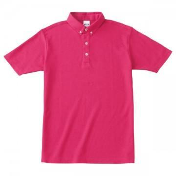 ボタンダウンポロシャツ146.ホットピンク