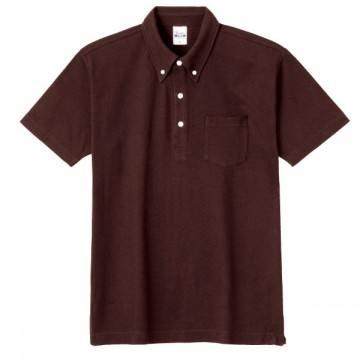 スタンダードB/Dポロシャツ(ポケット付き)168.チョコレート