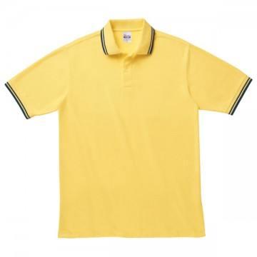 ベーシックラインポロシャツ231.イエロー×ネイビー