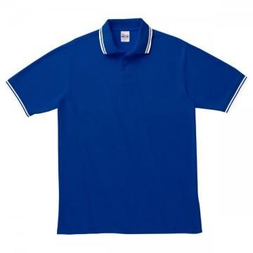 ベーシックラインポロシャツ321.ロイヤルブルー×ホワイト