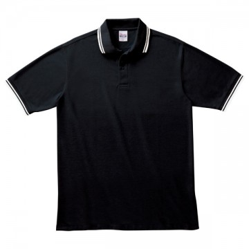 ベーシックラインポロシャツ501.ブラック×ホワイト