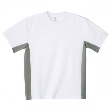 アクティブTシャツ601.ホワイト×グレー