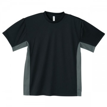 アクティブTシャツ605.ブラック×ダークグレー
