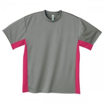 アクティブTシャツ646.グレー×ホットピンク