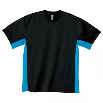 アクティブTシャツ650.ブラック×ターコイズ