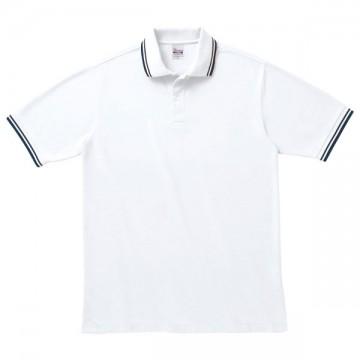 ベーシックラインポロシャツ731.ホワイト×ネイビー