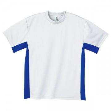 アクティブTシャツ732.ホワイト×ロイヤルブルー