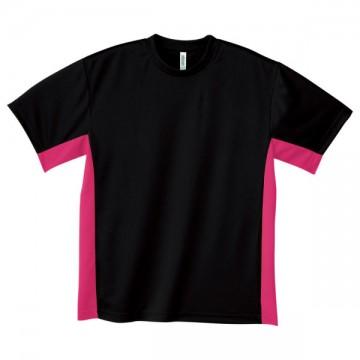 アクティブTシャツ746.ブラック×ホットピンク